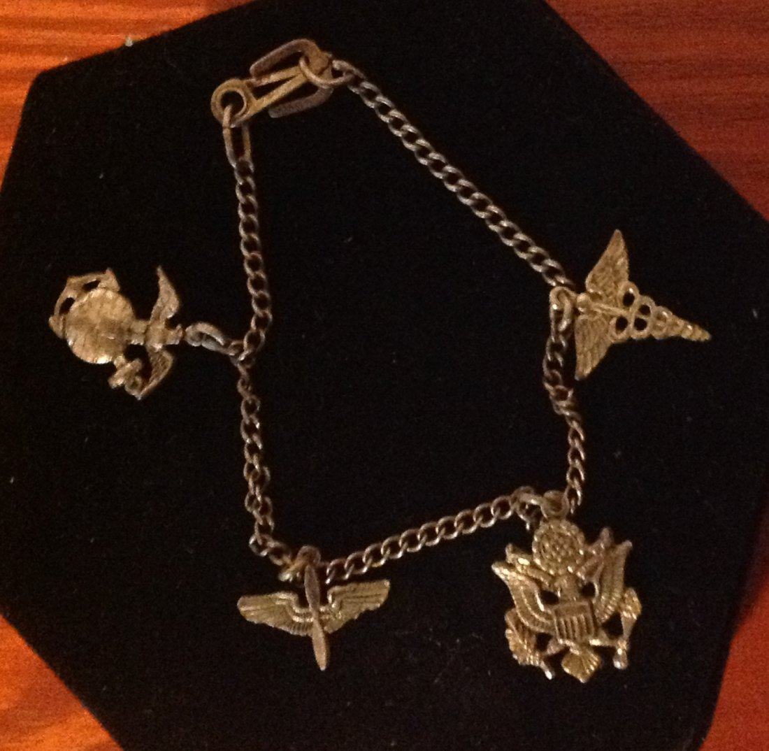American Military WWII Sweetheart Bracelet