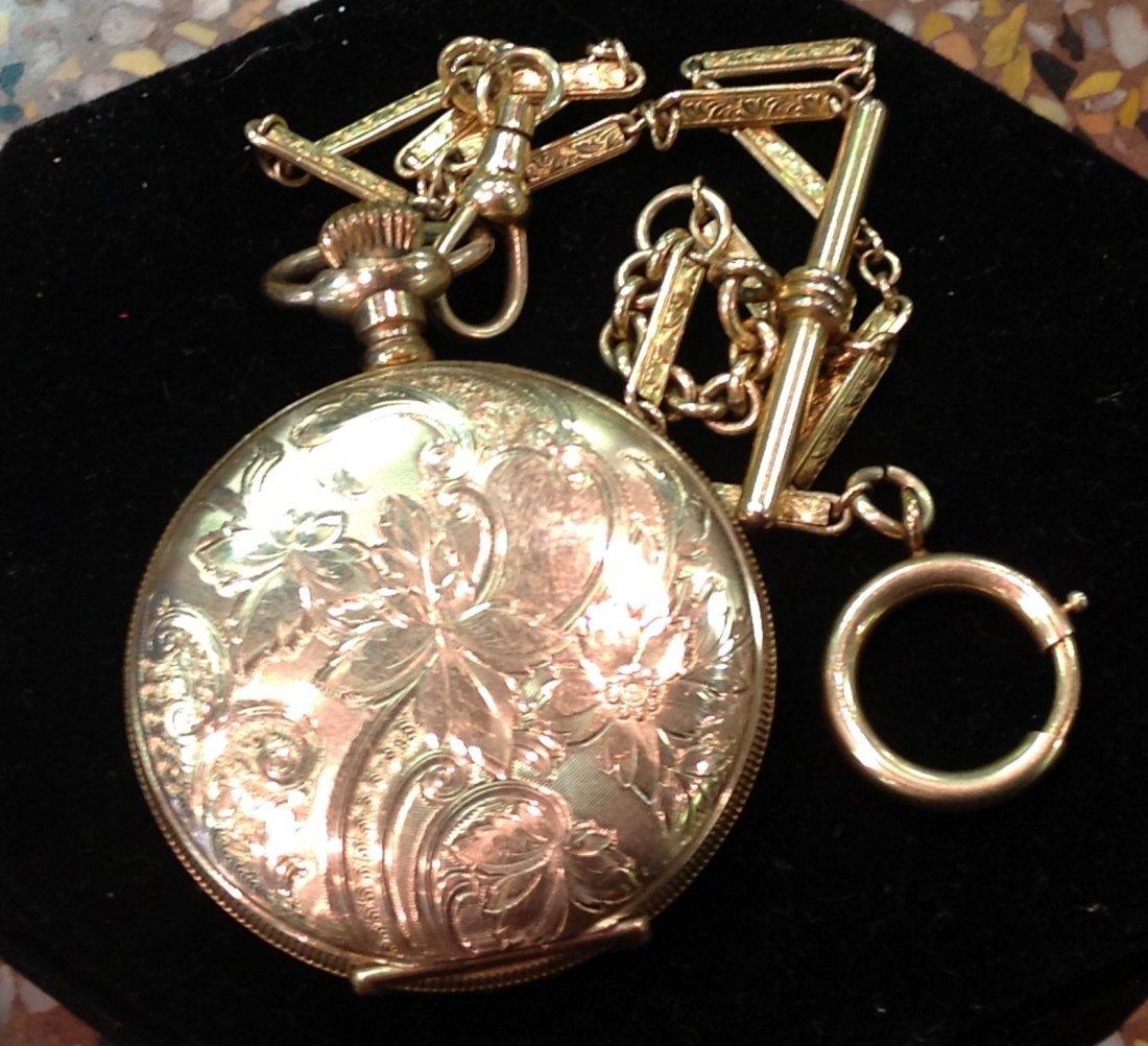 Antique Elgin Men's Gold Pocket Watch; 67.4 total wt