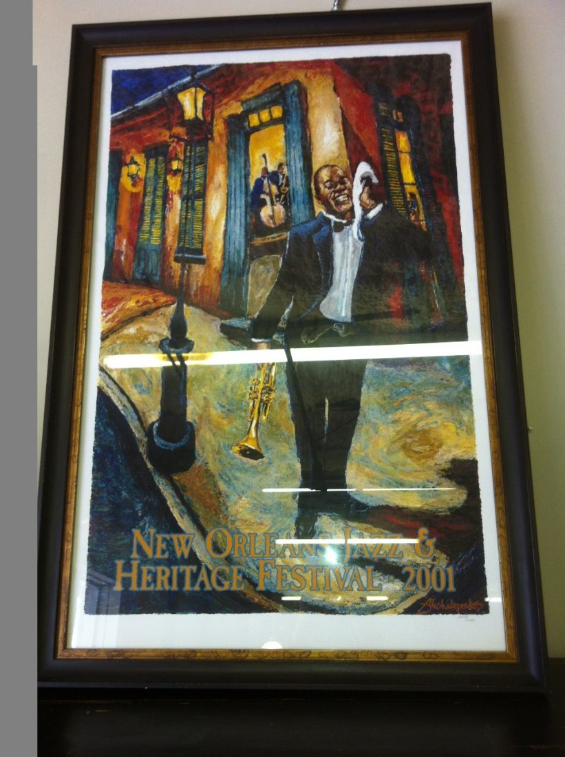 Framed 2001 New Orleans Jazz Fest Poster