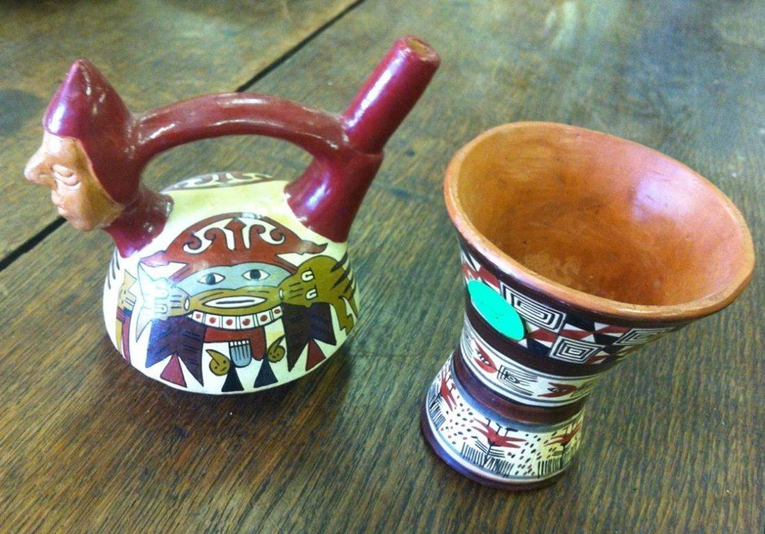 2 Pcs Of Peruvian Pottery