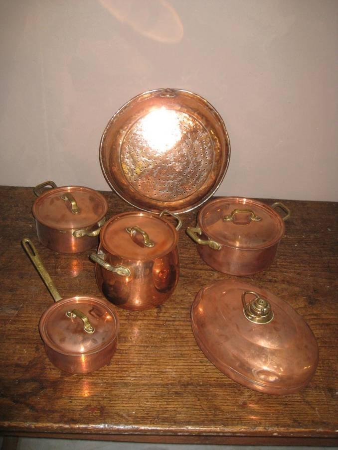 428: Lot 6 of Copper Pots & Pans