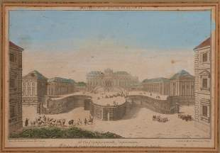 FRENCH SCHOOL, 18TH CENTURY A VUE D'OPTIQE OF 'LE PA