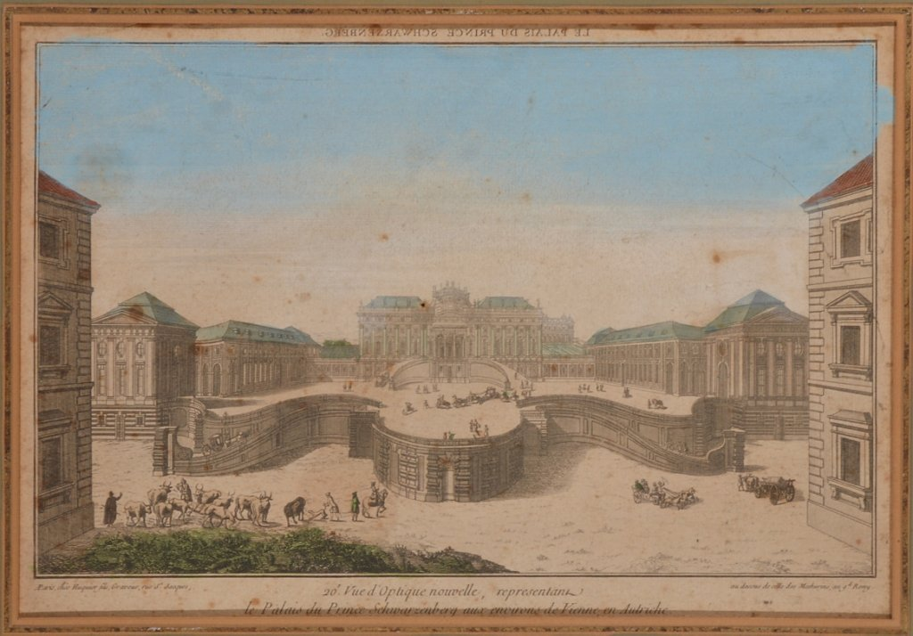 4: FRENCH SCHOOL, 18TH CENTURY A VUE D'OPTIQE OF 'LE PA