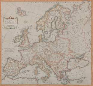 THOMAS KITCHIN 1719-1784 MAP OF EUROPE DIVIDED INTO