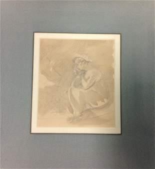 SAMUEL SHELLEY 1750-1808 A STUDY OF WOMAN SITTING pe