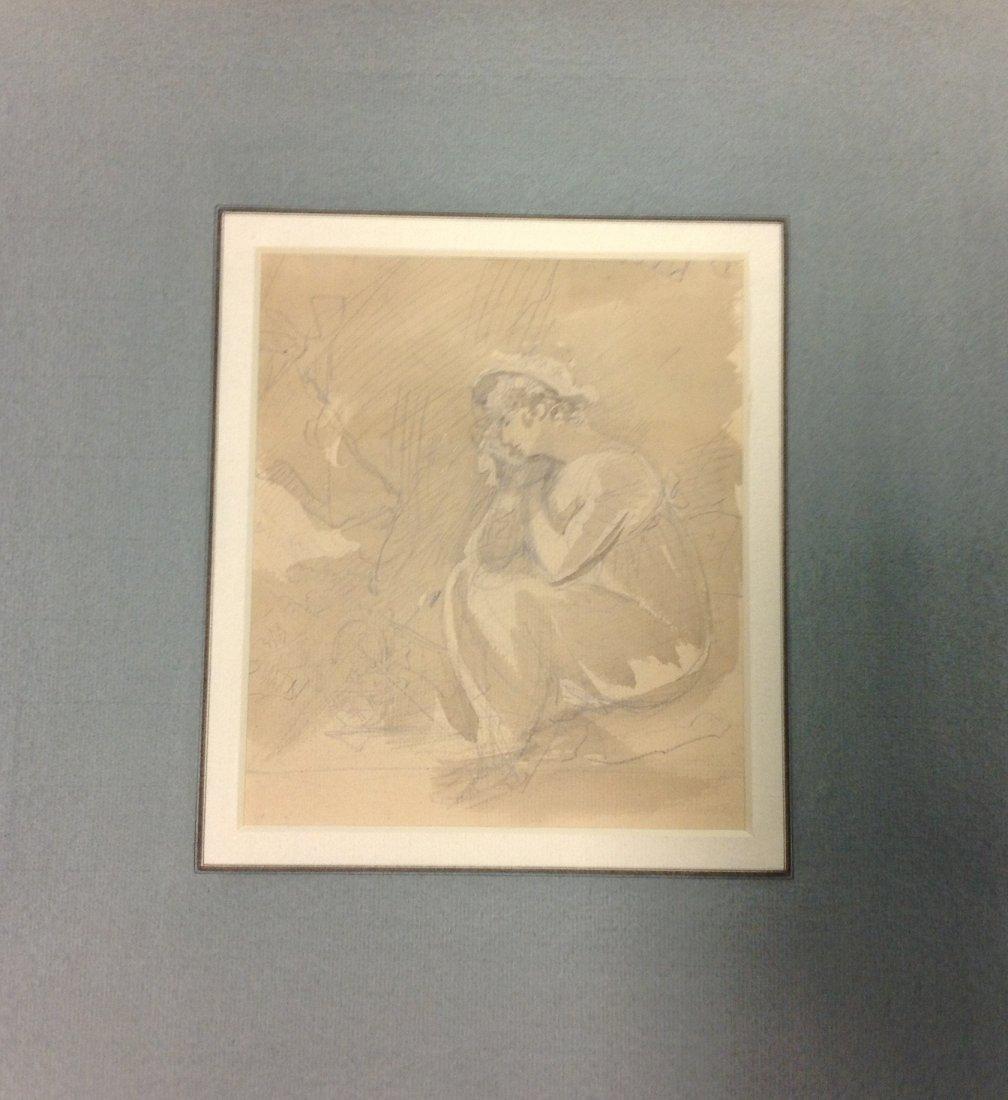 6: SAMUEL SHELLEY 1750-1808 A STUDY OF WOMAN SITTING pe