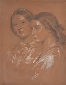 13: GEORGE RICHMOND 1809-1896 A PORTRAIT OF TWO LADIES