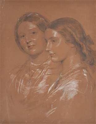GEORGE RICHMOND 1809-1896 A PORTRAIT OF TWO LADIES