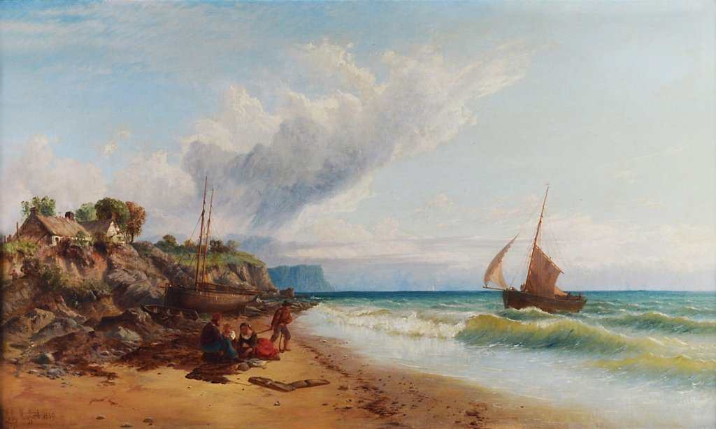 19: JOHN MOGFORD 1821-1885 FISHERMAN'S FAMILY ON THE BE