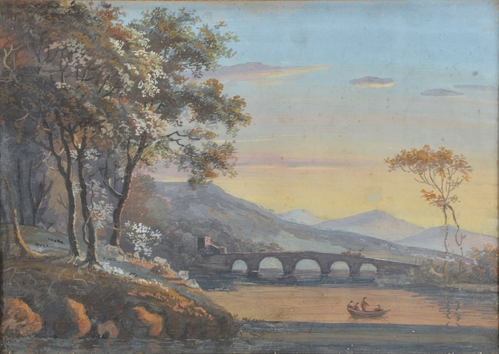 21: FRENCH SCHOOL, 19TH CENTURY CROSSING THE RIVER AT S