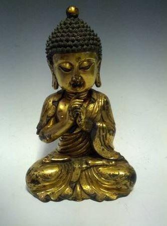 AN CHINESE MING DYNASTY  RARE BRONZE BUDDHA,