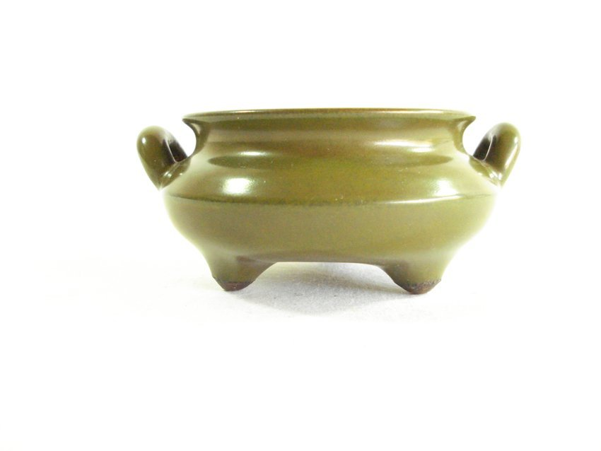 An chinese qing dynasty Tea glaze smoked incense burner