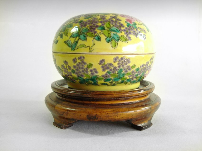 AN CHINESE QING DYNASTY FLOWERS AND PLANTS PORCELAIN BO