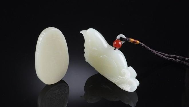 TWO OF CHINESE WHITE JADE FIGURES