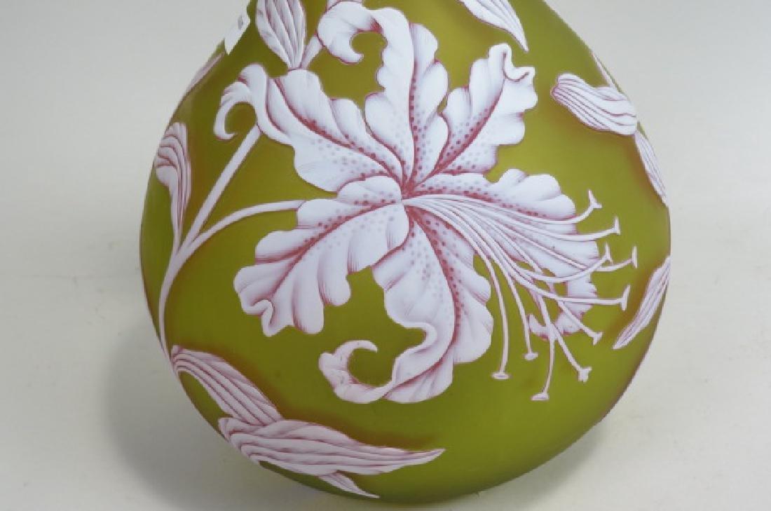 Webb Cameo Art Glass Vase, - 2