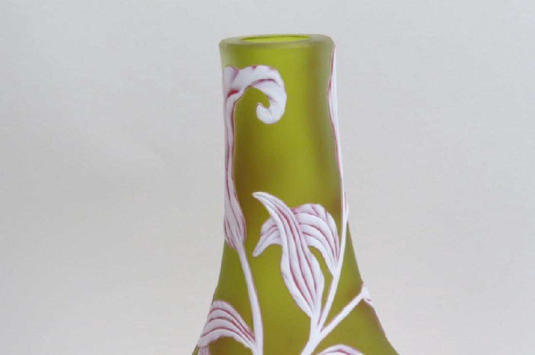 Webb Cameo Art Glass Vase, - 3