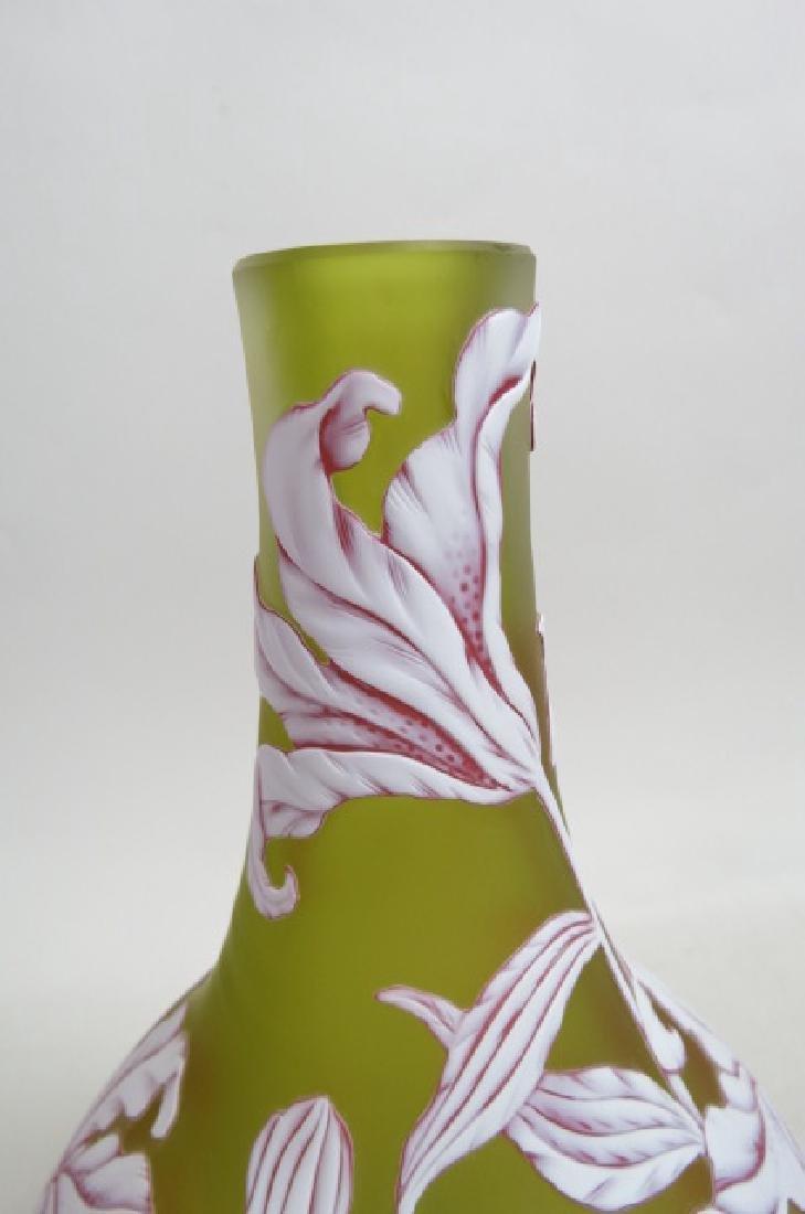 Webb Cameo Art Glass Vase, - 4