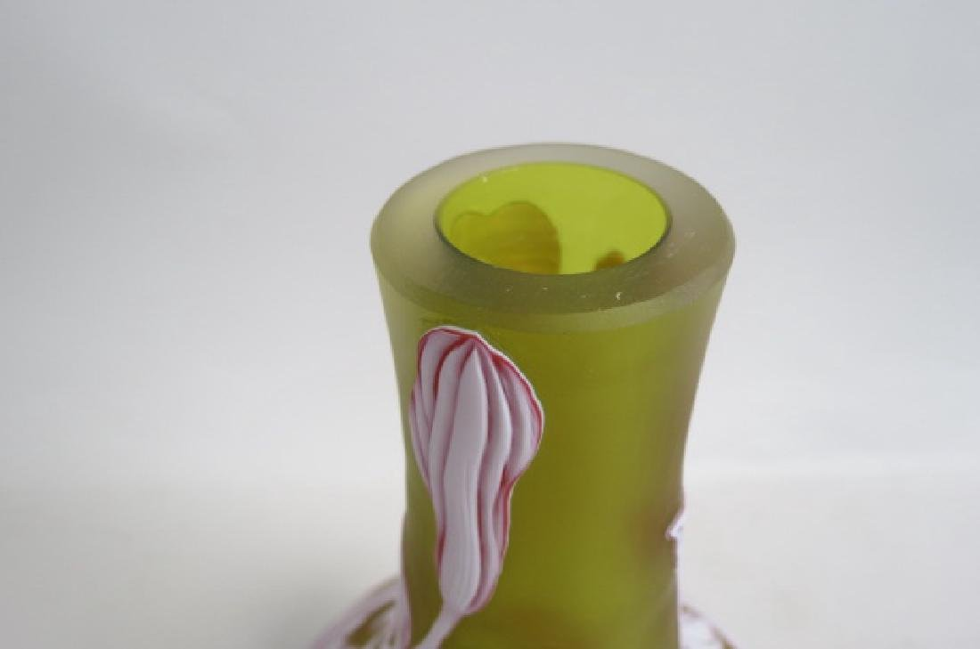 Webb Cameo Art Glass Vase, - 5