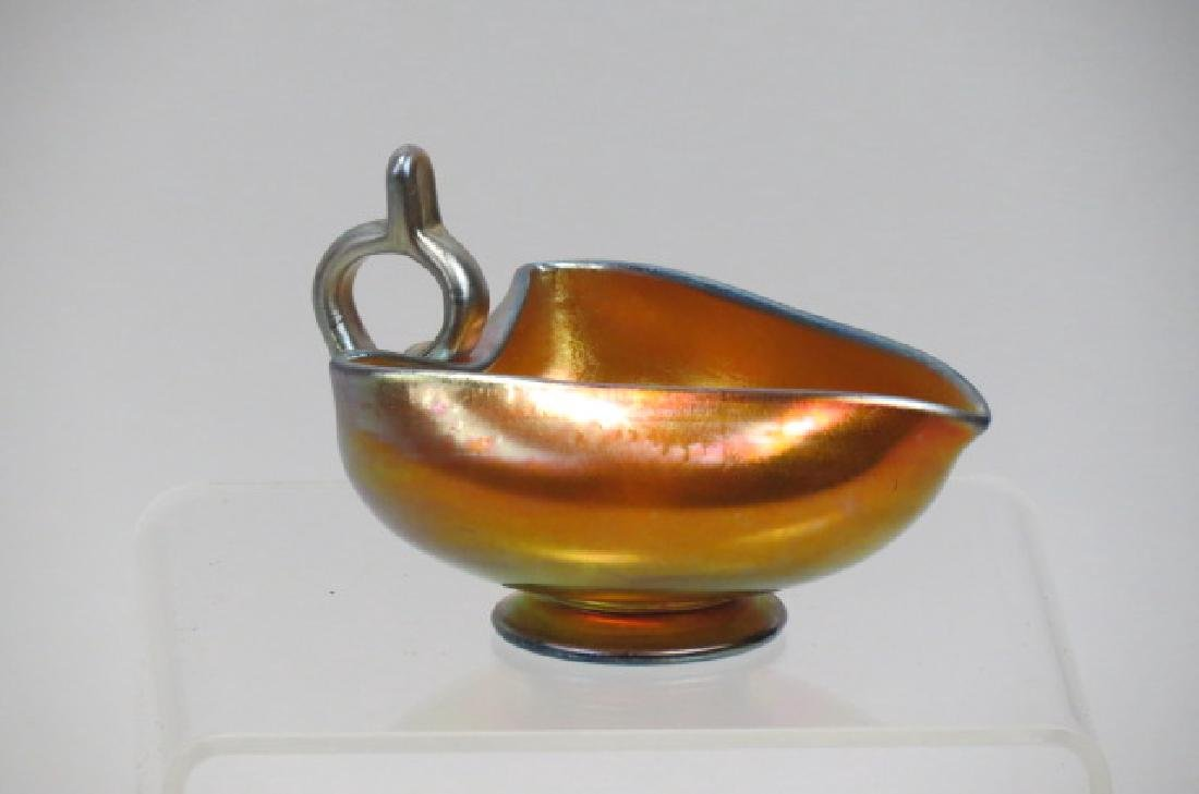 Tiffany or Steuben Art Glass Sauce Boat or