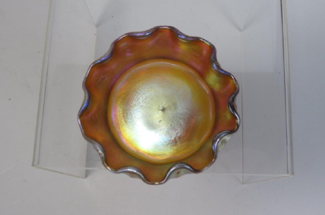 Tiffany Favrile Art Glass Salt Cellar,