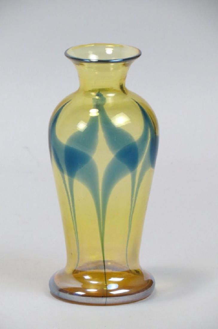 Durand Art Glass Vase, - 2