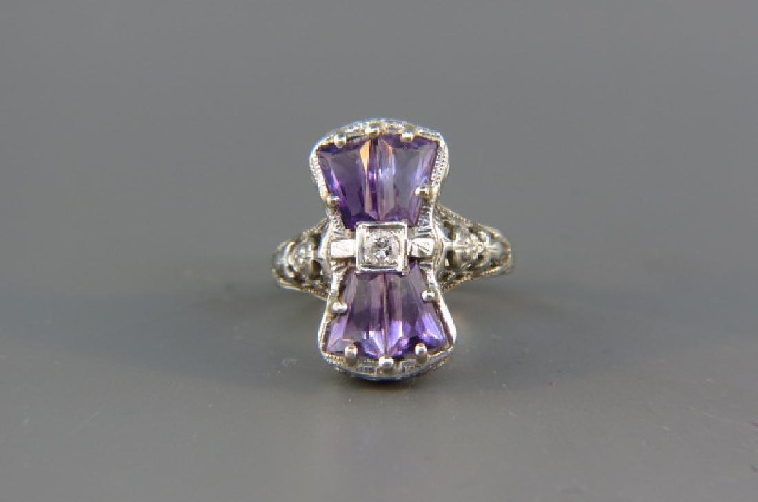 Diamond & Amethyst Ring,