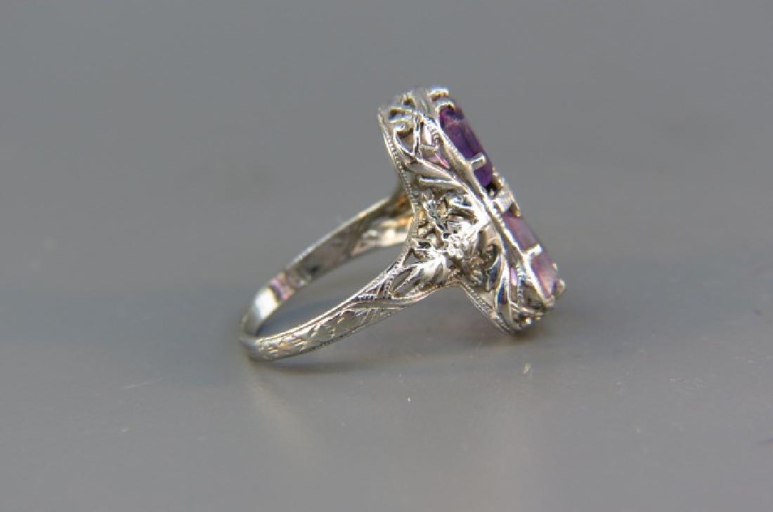 Diamond & Amethyst Ring, - 4