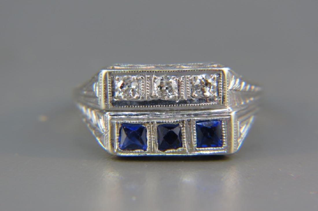 Diamond & Sapphire Ring,
