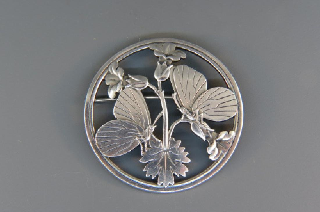 Georg Jensen Sterling Brooch,