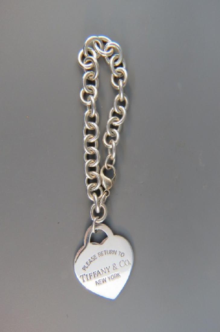 Tiffany Sterling Silver Bracelet & Charm,