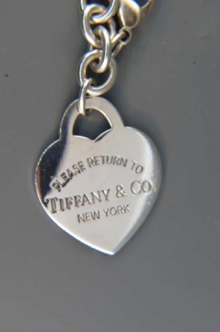 Tiffany Sterling Silver Bracelet & Charm, - 2