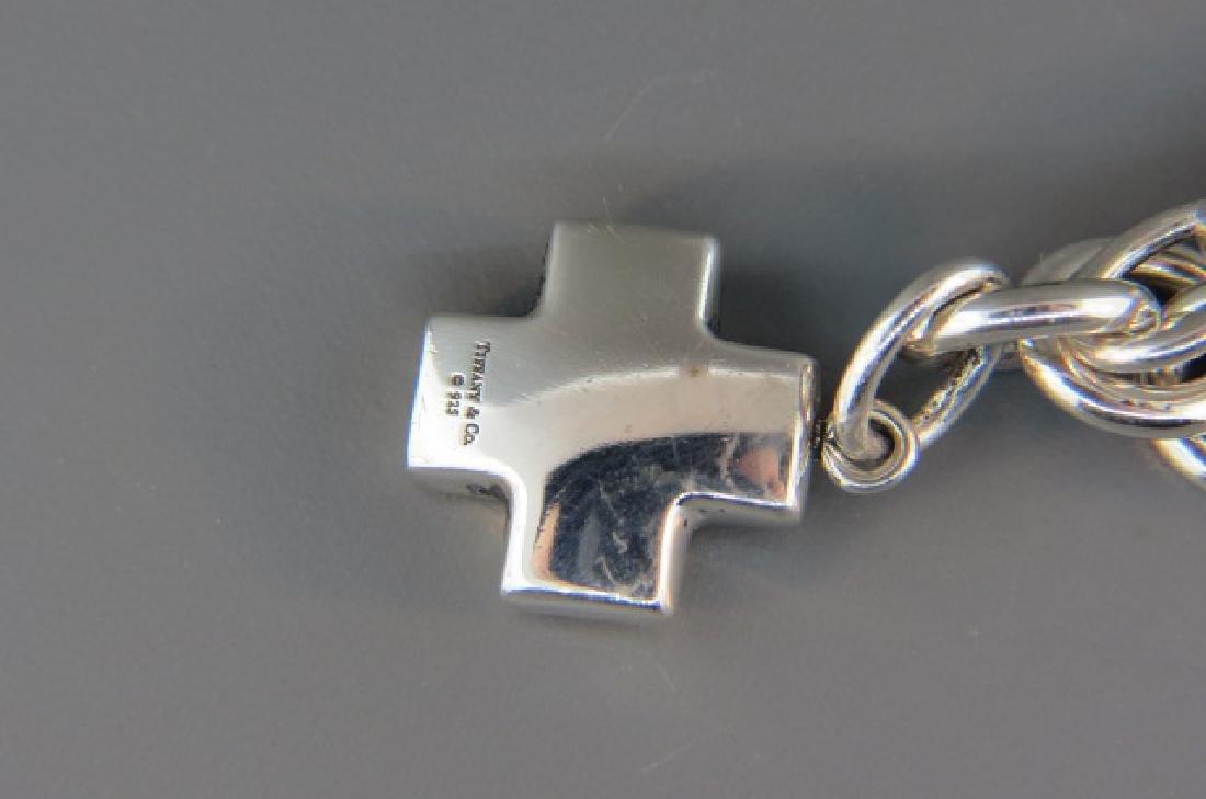 Tiffany Sterling Silver Bracelet & Charm, - 3