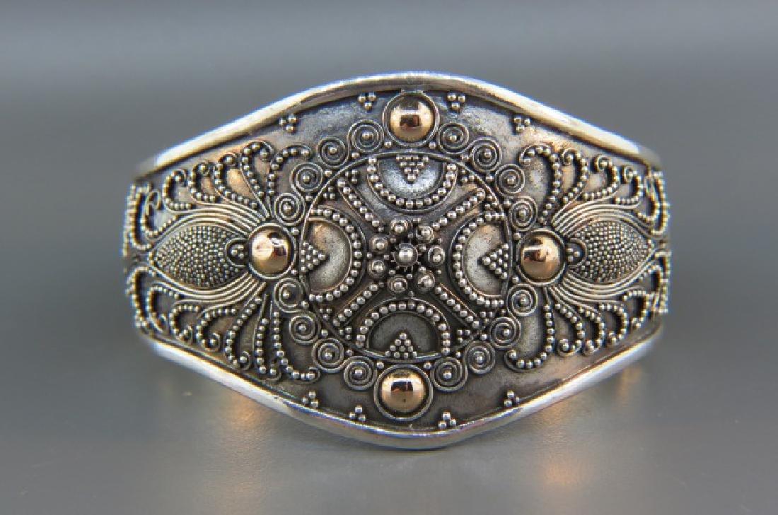 Sterling & Gold Bracelet,
