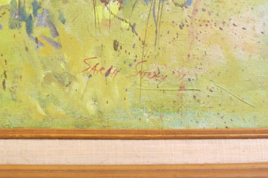 Sarah Sneeden, oil, Old Barns in North Carolina, - 3