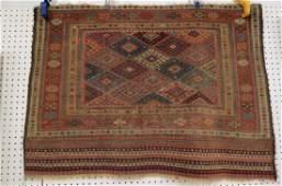 Antique Kurdish Handmade Tent Flap or Rug