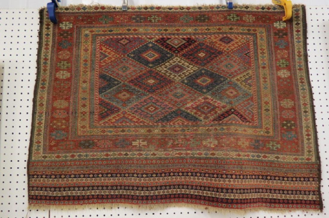 Antique Kurdish Handmade Tent Flap or Rug,