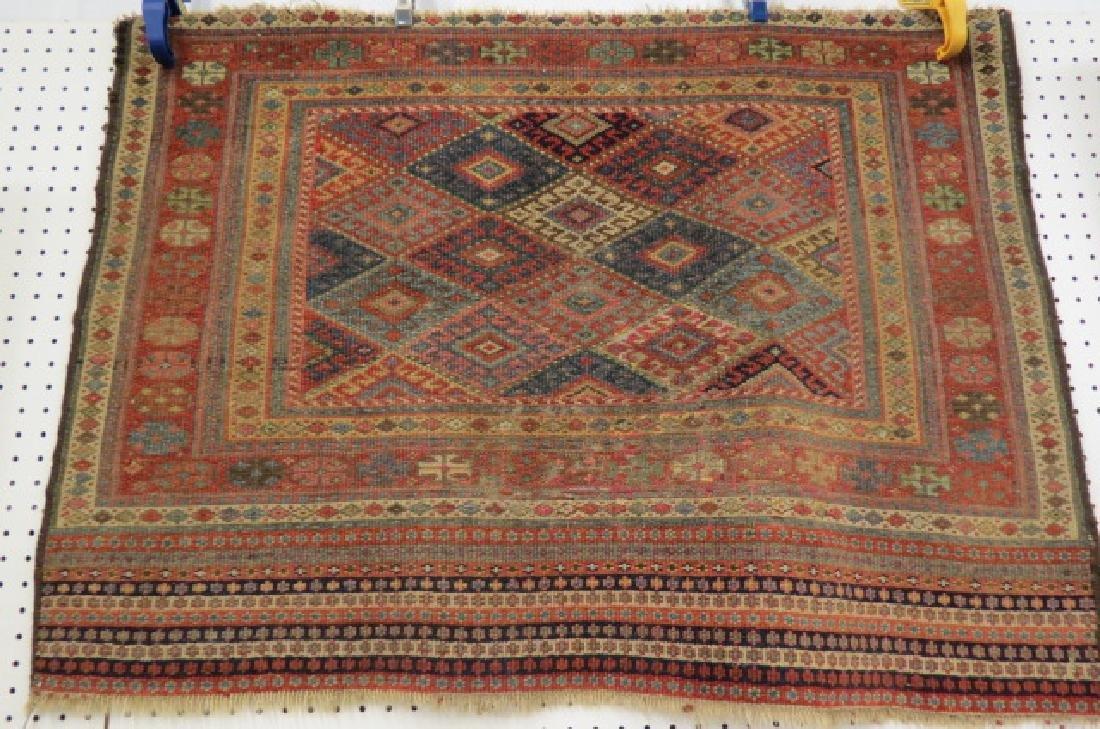 Antique Kurdish Handmade Tent Flap or Rug, - 2