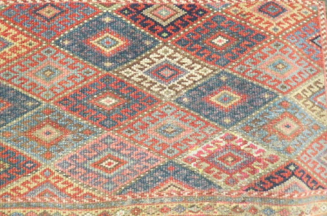 Antique Kurdish Handmade Tent Flap or Rug, - 4