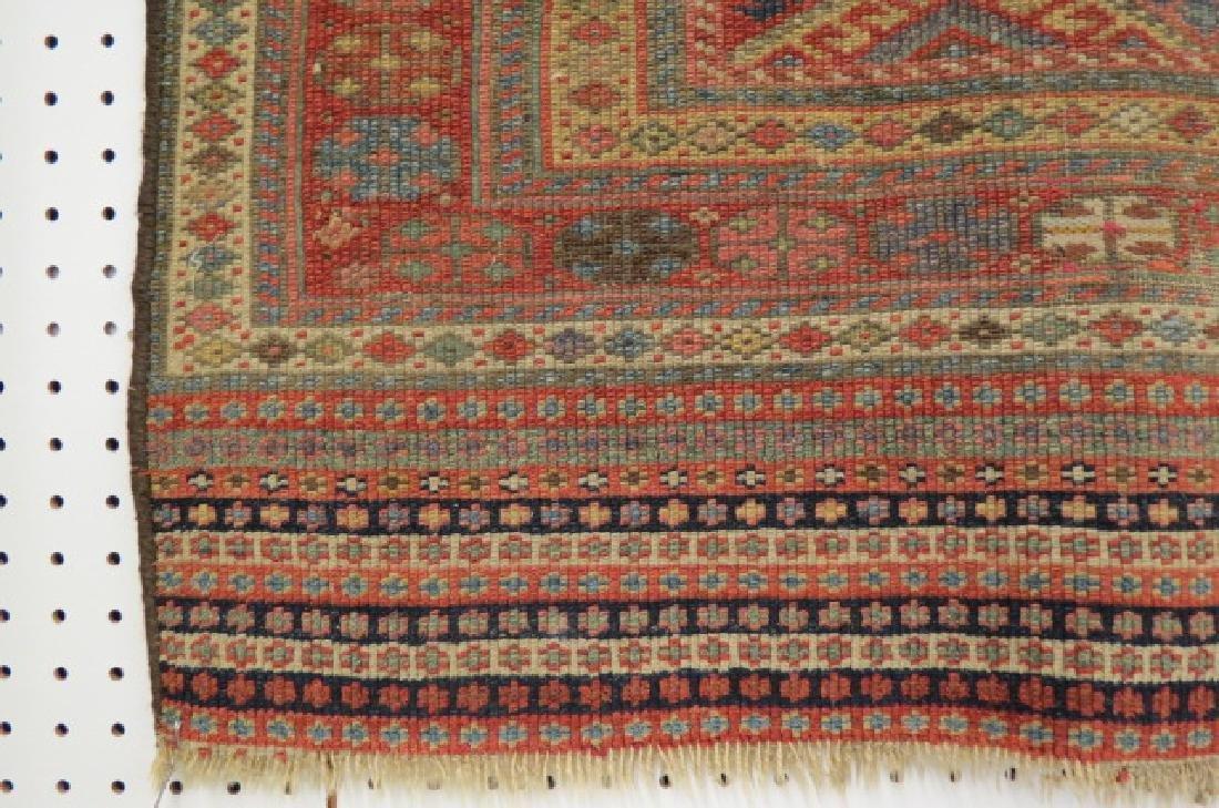 Antique Kurdish Handmade Tent Flap or Rug, - 5