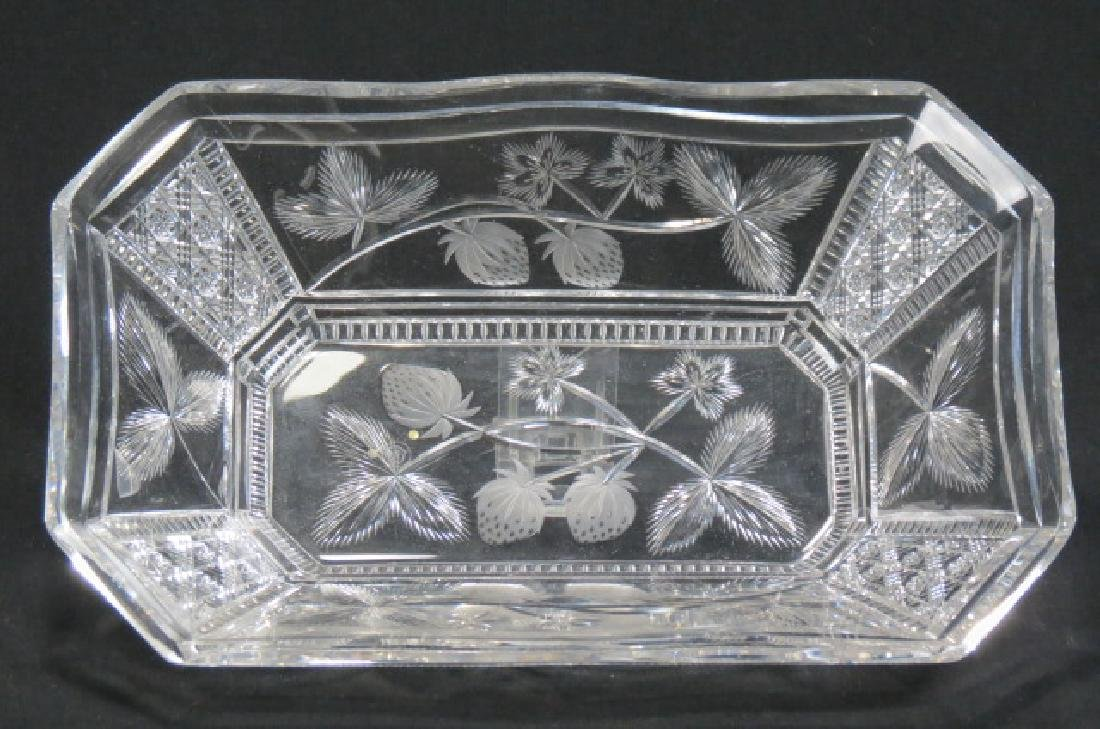 Libbey Cut Glass Rectangular Berry Tray,