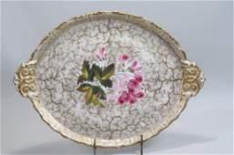 Old Paris Porcelain Large Serving Tray,