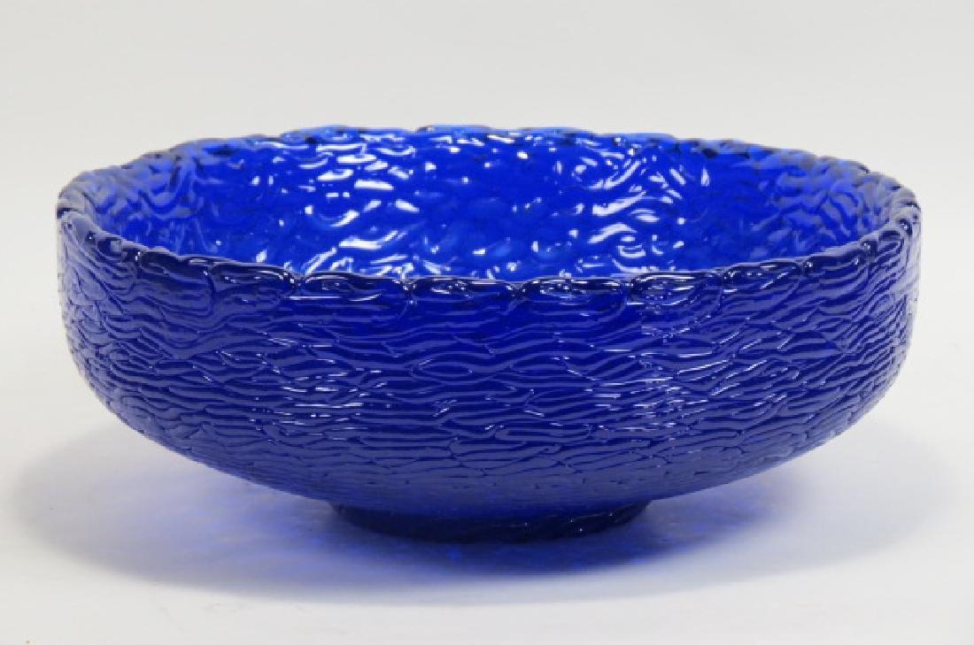 Mark Peiser Art Glass Bowl, plaited basket,