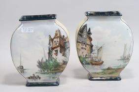 Pair of St.Denis French Porcelain Vases,