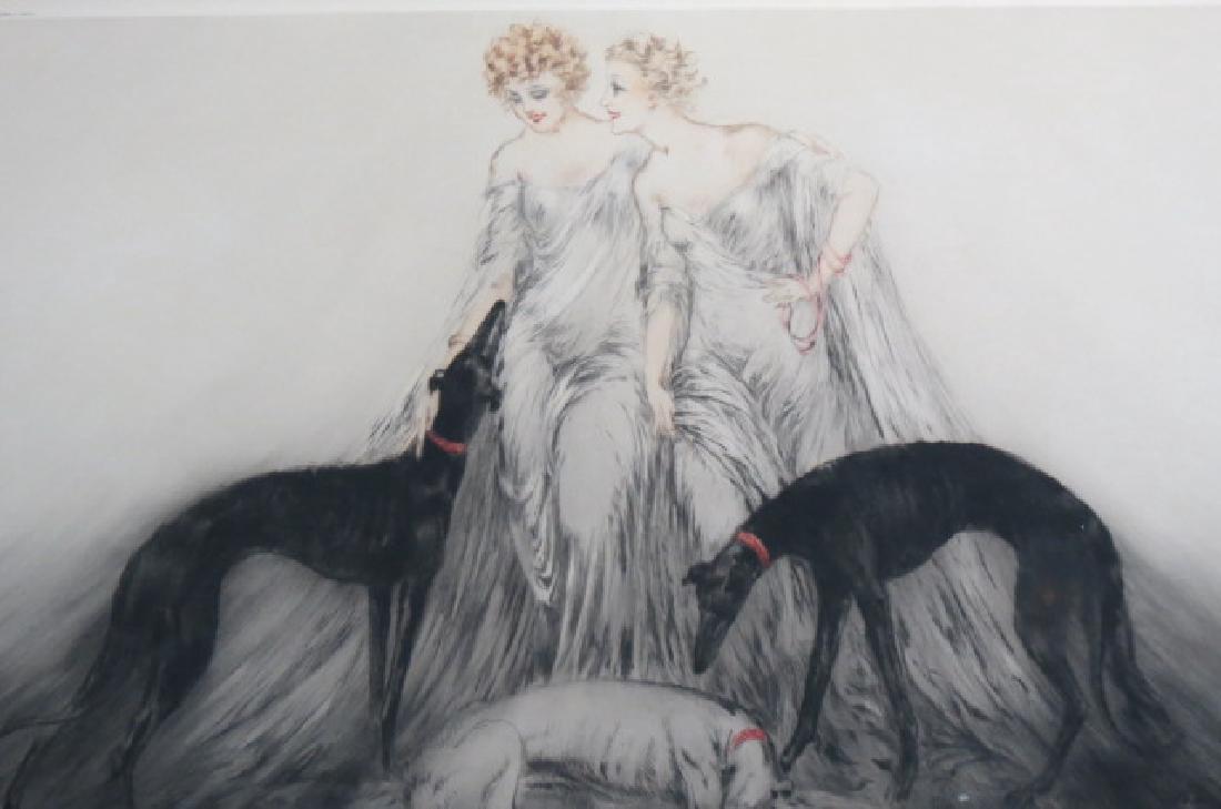 "Louis Icart, etching, ""Coursing III"" - 2"