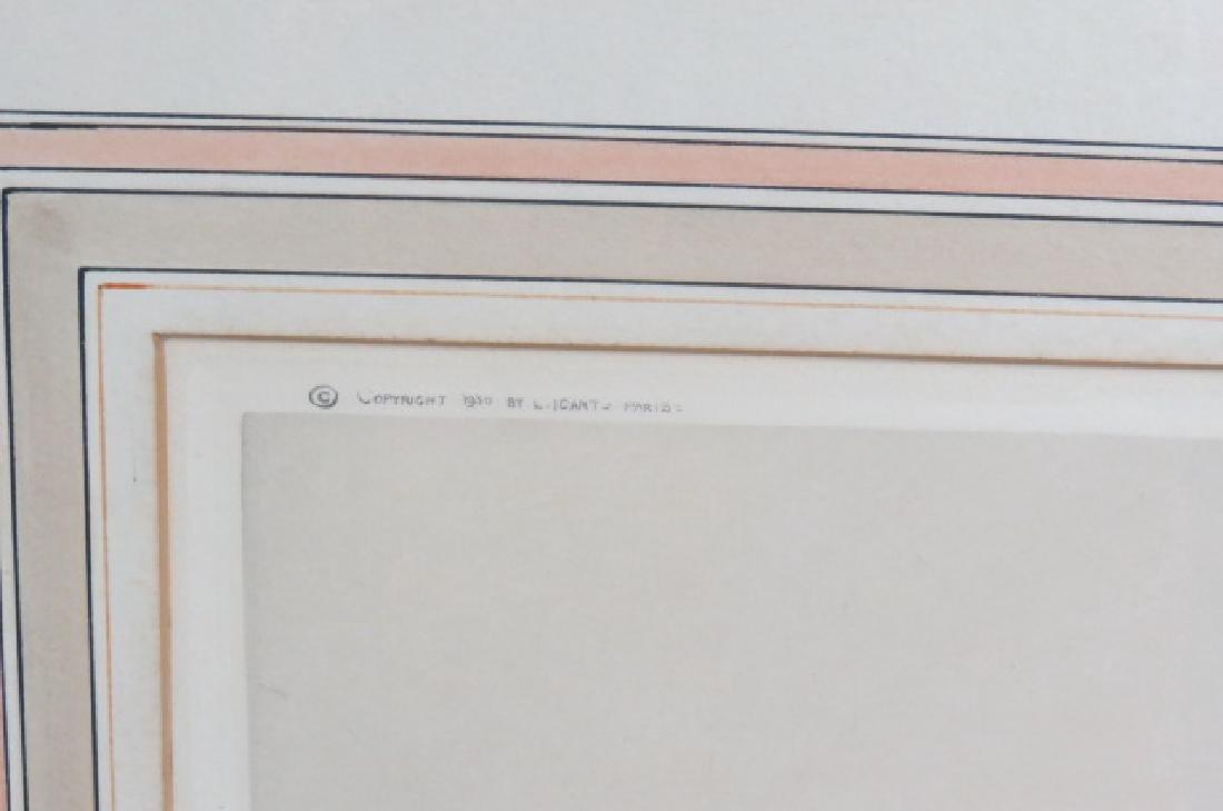 "Louis Icart, etching, ""Coursing III"" - 4"