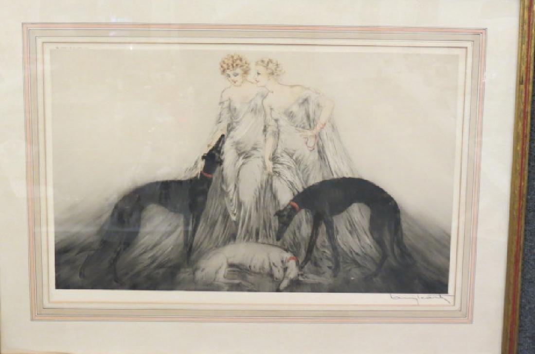 "Louis Icart, etching, ""Coursing III"" - 5"
