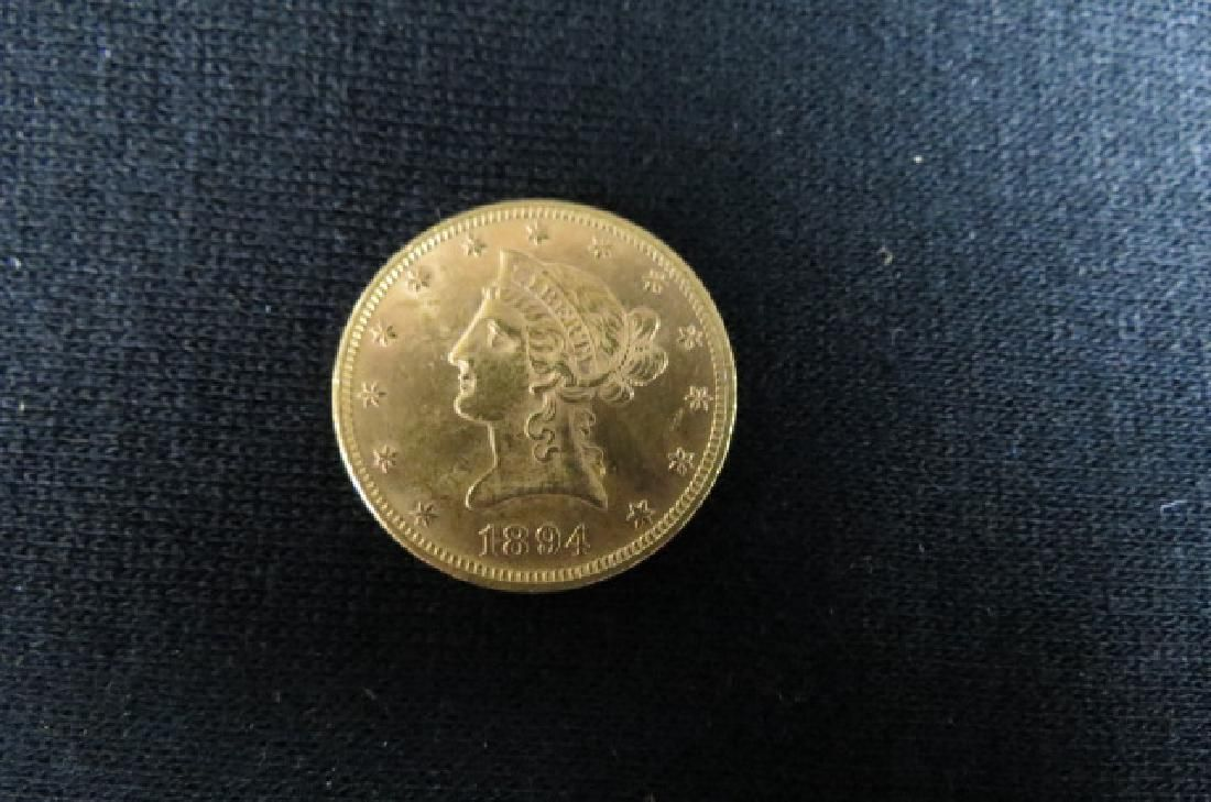 1894 U.S. $10.00 Liberty Head Gold Coin,