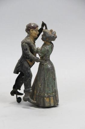 Victorian Tin Wind-up Dancing Couple Toy,