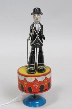Vintage Tin Wind-Up Toy Dancing Man,