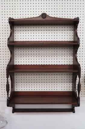 Mahogany Wall Shelf,